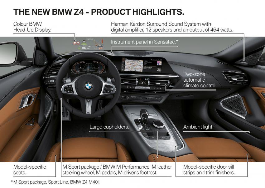 BMW Z4 G29 2019 – info penuh didedah, tiga varian Image #863073