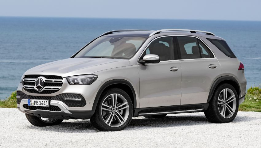 V167 Mercedes-Benz GLE debuts with 48V mild hybrid inline-six, MBUX, new styling, E-Active Body Control Image #859452