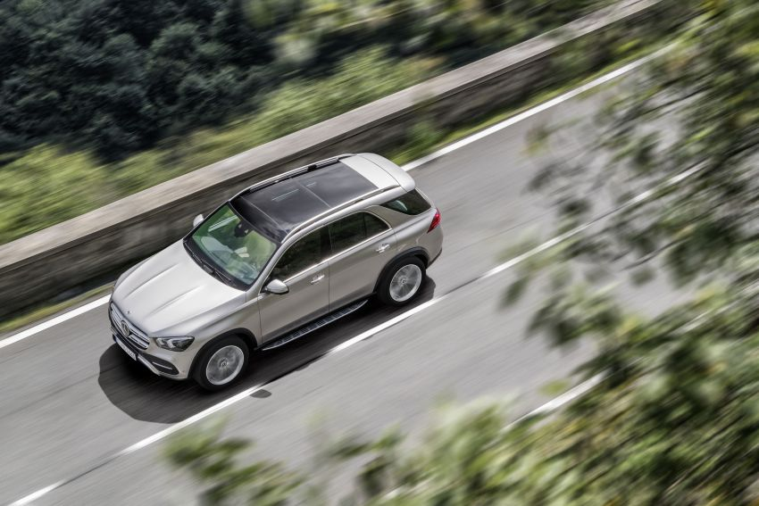 V167 Mercedes-Benz GLE debuts with 48V mild hybrid inline-six, MBUX, new styling, E-Active Body Control Image #859435