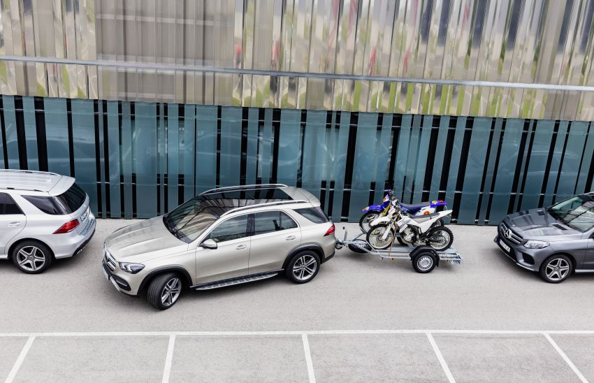 V167 Mercedes-Benz GLE debuts with 48V mild hybrid inline-six, MBUX, new styling, E-Active Body Control Image #859473