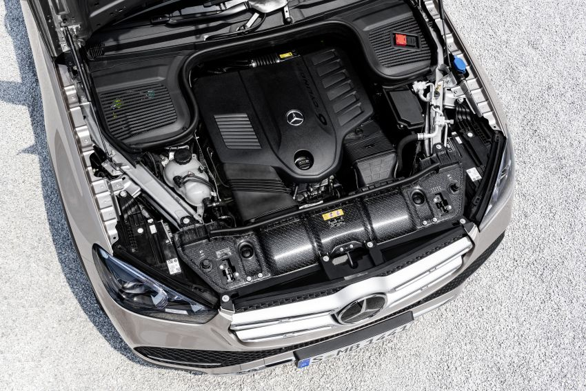 V167 Mercedes-Benz GLE debuts with 48V mild hybrid inline-six, MBUX, new styling, E-Active Body Control Image #859475