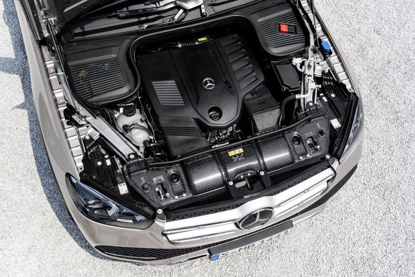 Mercedes-Benz GLE W167 diperkenal dengan pilihan enjin hibrid ringkas 48V enam silinder, sistem baru Image #859999