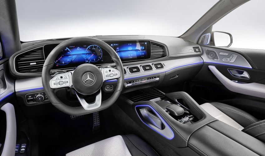 V167 Mercedes-Benz GLE debuts with 48V mild hybrid inline-six, MBUX, new styling, E-Active Body Control Image #859503