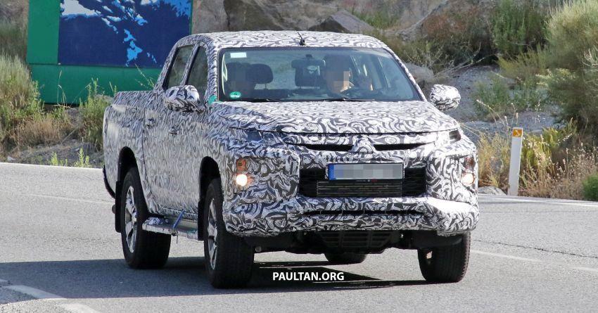 SPYSHOT: Mitsubishi Triton <em>facelift</em> 2019 dilihat lagi Image #856861
