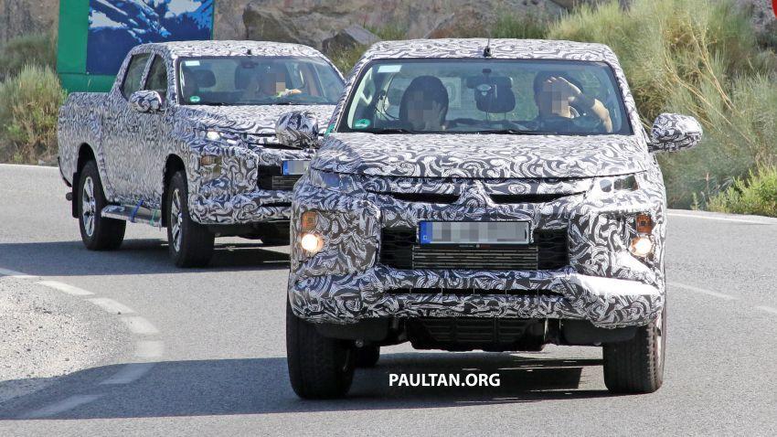 SPYSHOT: Mitsubishi Triton <em>facelift</em> 2019 dilihat lagi Image #856862