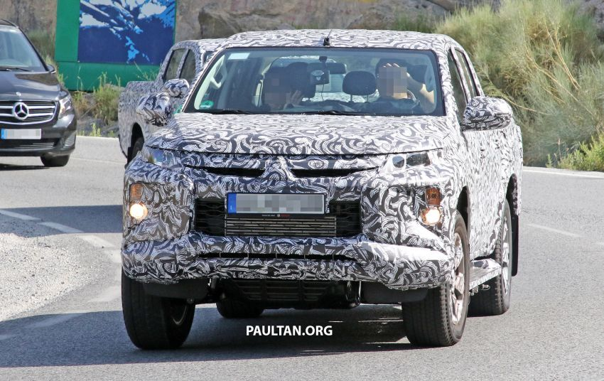 SPYSHOT: Mitsubishi Triton <em>facelift</em> 2019 dilihat lagi Image #856864