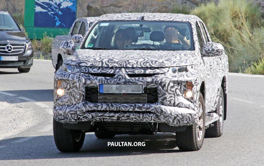 SPYSHOT: Mitsubishi Triton <em>facelift</em> 2019 dilihat lagi Image #856863
