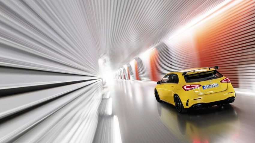 Mercedes-AMG A 35 4Matic didedahkan – 2.0L turbo, 306 hp dan 400 Nm, AWD; Pencabar terus VW Golf R! Image #862334