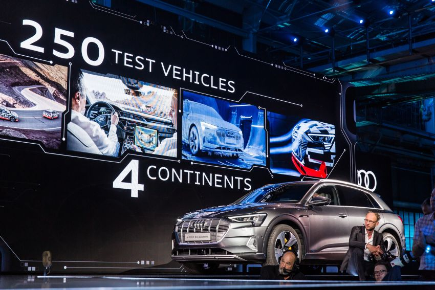 Audi e-tron celebrates global debut in San Francisco – brand's first series production, all-electric SUV Image #862142
