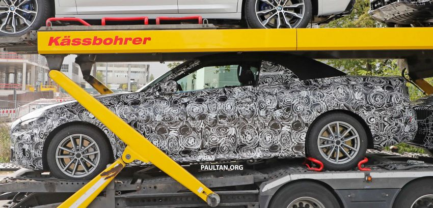 SPIED: BMW 4 Series convertible goes back to soft-top Image #858696