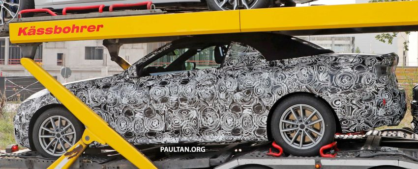SPIED: BMW 4 Series convertible goes back to soft-top Image #858698