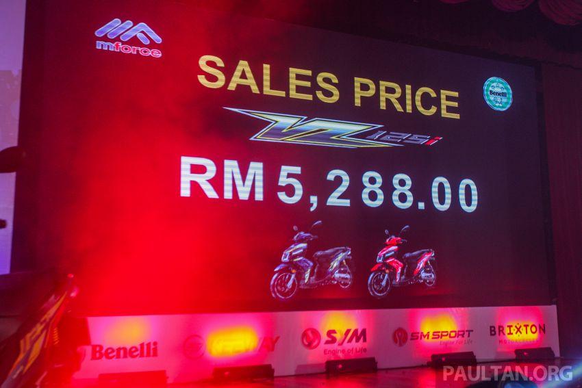 Benelli VZ125i dilancar – Malaysia jadi negara pertama terima skuter 124 cc EFI jenama itu, harga dari RM5.3k Image #859303