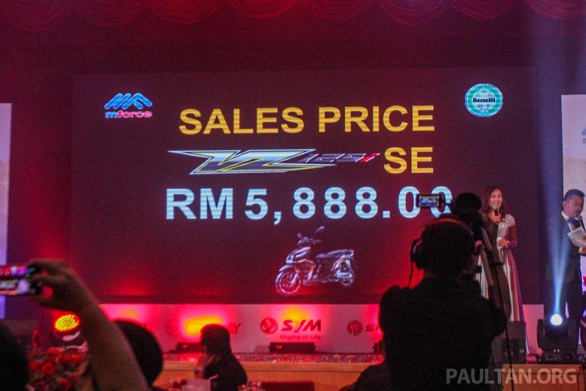 Benelli VZ125i dilancar – Malaysia jadi negara pertama terima skuter 124 cc EFI jenama itu, harga dari RM5.3k Image #859304