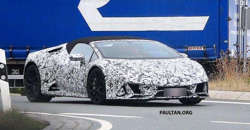 SPYSHOT: Lamborghini Huracan Spyder facelift dikesan – mungkin diperkenalkan pada 2019 atau 2020 Image #866111