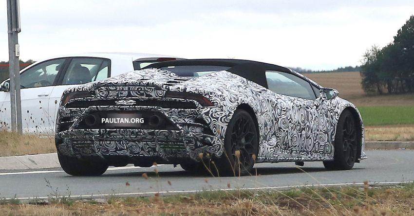 SPYSHOT: Lamborghini Huracan Spyder facelift dikesan – mungkin diperkenalkan pada 2019 atau 2020 Image #866115