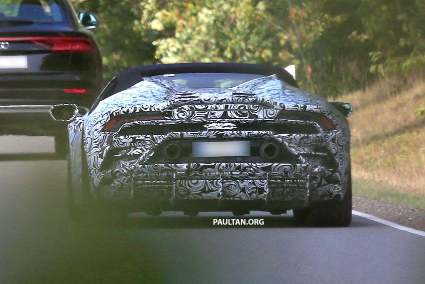 SPYSHOT: Lamborghini Huracan Spyder facelift dikesan – mungkin diperkenalkan pada 2019 atau 2020 Image #866116