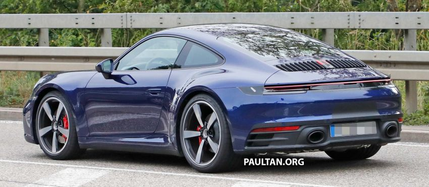 SPYSHOT: Porsche 911 generasi baharu terdedah, sedang diuji tanpa sebarang pelekat penyamaran Image #857357