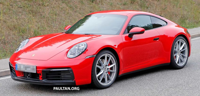 SPYSHOT: Porsche 911 generasi baharu terdedah, sedang diuji tanpa sebarang pelekat penyamaran Image #857377