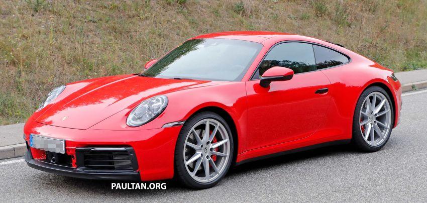 SPYSHOT: Porsche 911 generasi baharu terdedah, sedang diuji tanpa sebarang pelekat penyamaran Image #857376