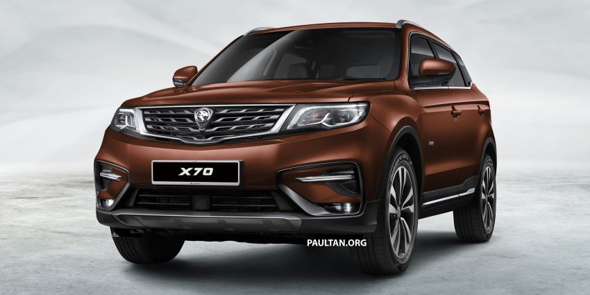 Proton X70 SUV – exterior paint and interior colours Image #859023
