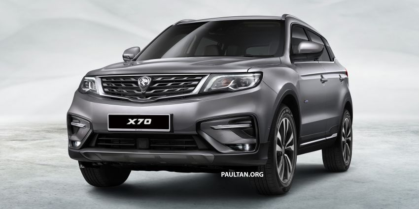 Proton X70 SUV – exterior paint and interior colours Image #859025