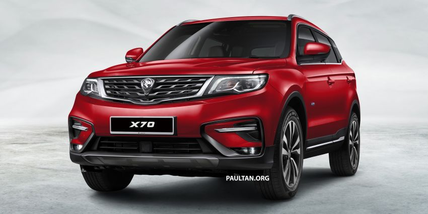 Proton X70 SUV – exterior paint and interior colours Image #859026