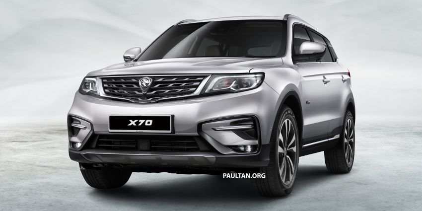 Proton X70 SUV – exterior paint and interior colours Image #859027