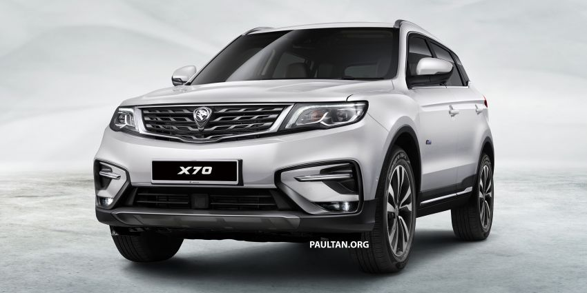 Proton X70 SUV – exterior paint and interior colours Image #859028