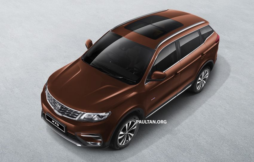 Proton X70 SUV – exterior paint and interior colours Image #859029