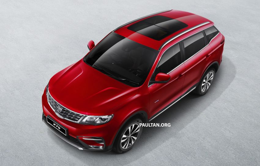 Proton X70 SUV – exterior paint and interior colours Image #859031