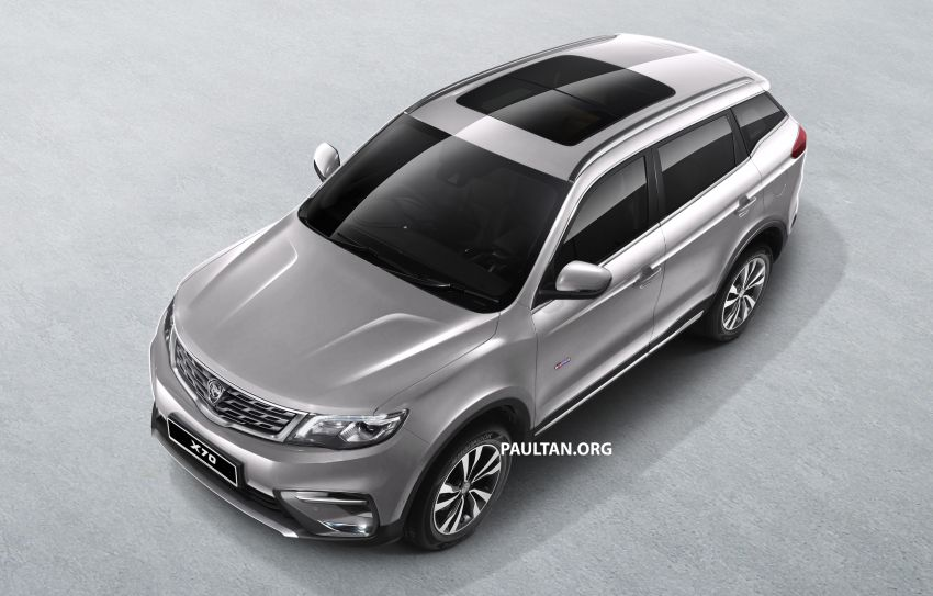 Proton X70 SUV – exterior paint and interior colours Image #859032