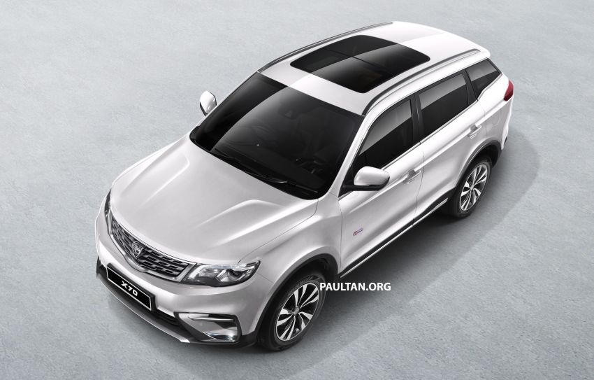 Proton X70 SUV – exterior paint and interior colours Image #859033