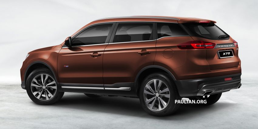 Proton X70 SUV – exterior paint and interior colours Image #859041