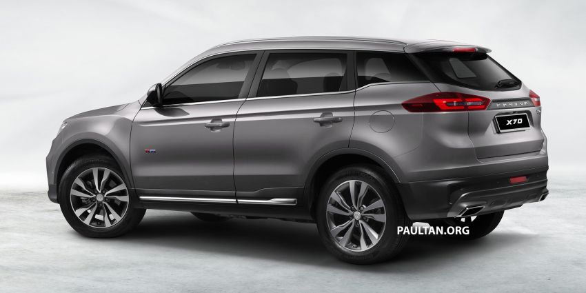 Proton X70 SUV – exterior paint and interior colours Image #859042