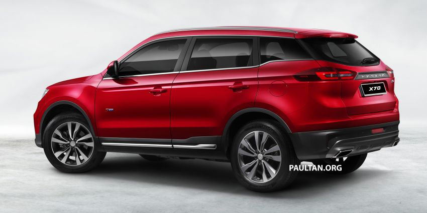 Proton X70 SUV – exterior paint and interior colours Image #859043