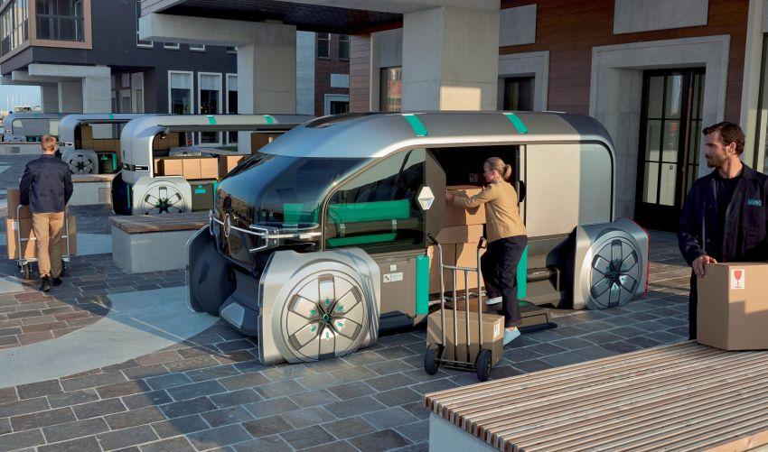 Renault EZ-PRO tunjuk konsep baru penghantaran barang jarak dekat menggunakan pod autonomous Image #862931