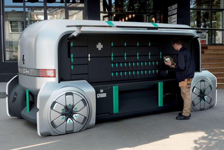 Renault EZ-PRO tunjuk konsep baru penghantaran barang jarak dekat menggunakan pod autonomous Image #862936