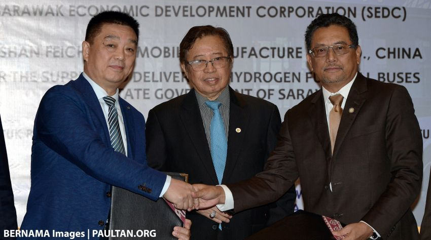 Sarawak to ready three hydrogen-powered buses by March 2019 – hydro dams could produce clean fuel Image #859893