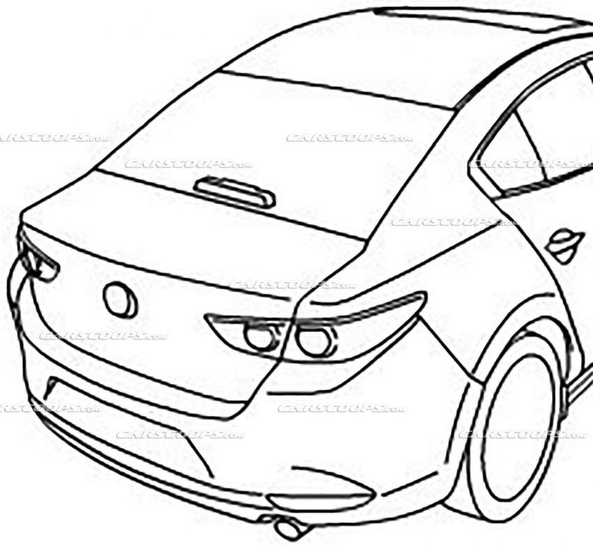 Mazda 3 2019 – imej illustrasi luar dan dalam tersebar Image #873724