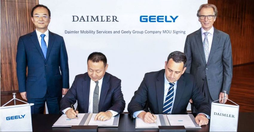 Daimler and Geely announce ride-hailing JV in China Image #878853