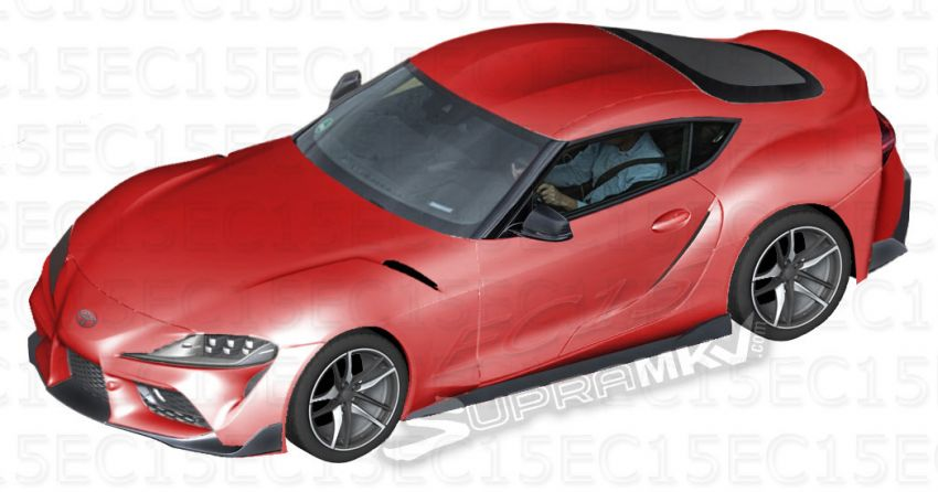A90 Toyota Supra pieced together from parts leak Image #871334