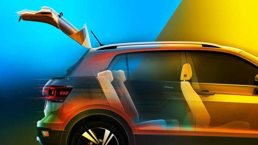 Volkswagen T-Cross SUV teased again ahead of debut Image #870829