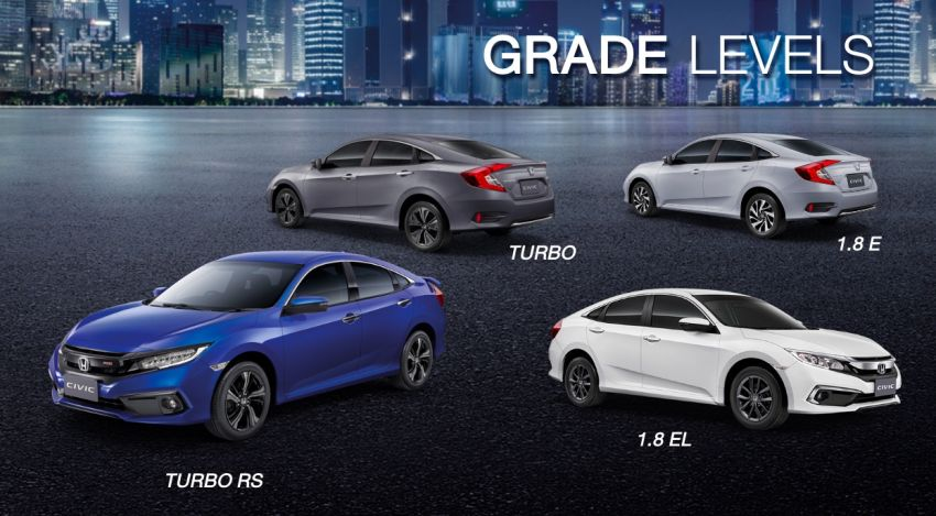 Honda Civic facelift launched in Thailand – 4 variants, 1.8L NA and 1.5L turbo, Honda Sensing introduced Image #895916