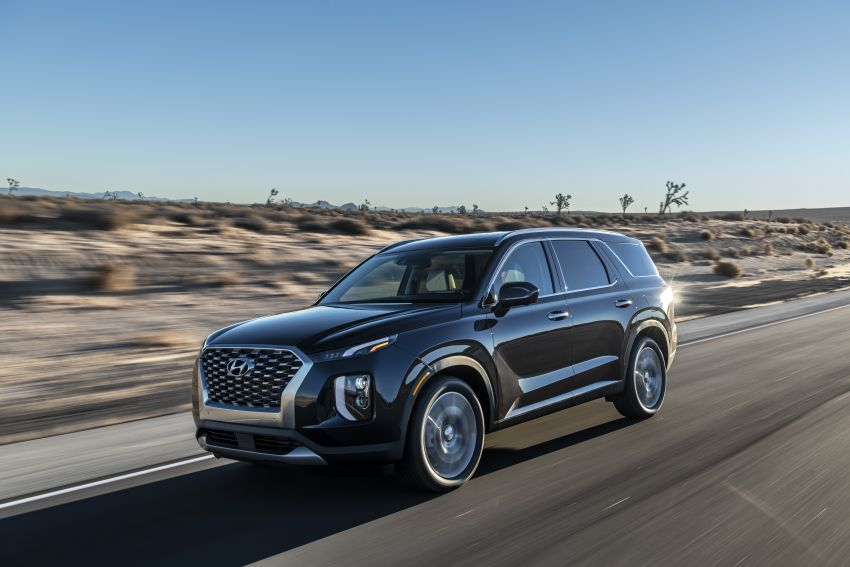 2020 Hyundai Palisade debuts – flagship eight-seat SUV, 3.8L V6, 8-speed auto, flush with safety tech Image #896096