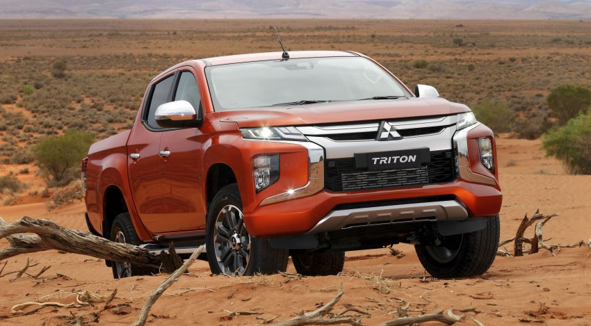 2019 Mitsubishi Triton facelift debuts in Thailand – updated design, new six-speed auto, improved safety Image #886617