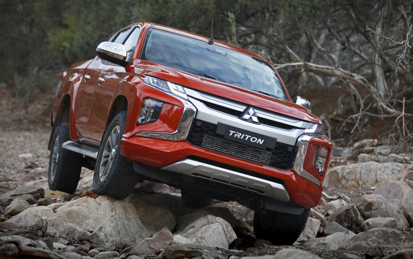 2019 Mitsubishi Triton facelift debuts in Thailand – updated design, new six-speed auto, improved safety Image #886625