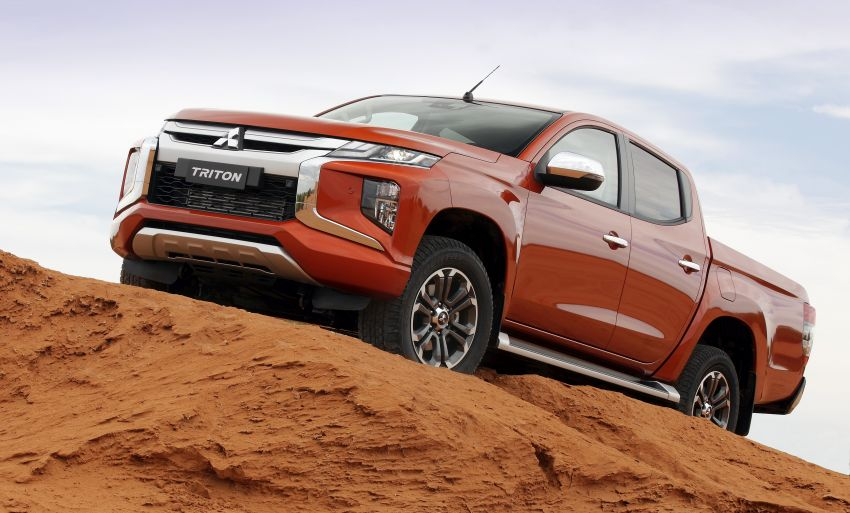 2019 Mitsubishi Triton facelift debuts in Thailand – updated design, new six-speed auto, improved safety Image #886627