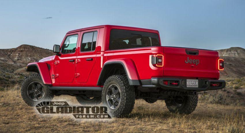 Jeep Gladiator 2020 – imej bocor sebelum pengenalan Image #889202