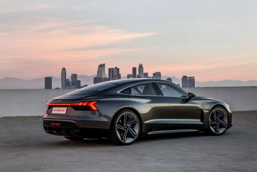Audi e-tron GT concept debuts at Los Angeles Auto Show – 582 hp EV, production version due by end 2020 Image #895977
