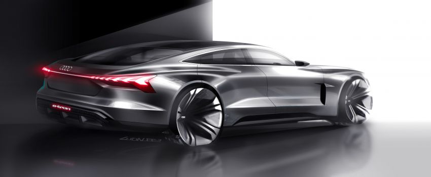 Audi e-tron GT concept debuts at Los Angeles Auto Show – 582 hp EV, production version due by end 2020 Image #896023